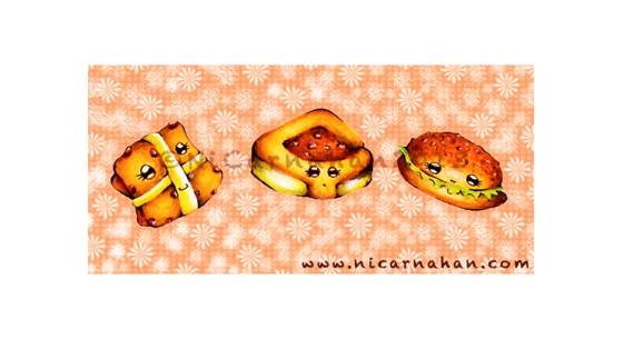 ©Ni Carnahan 2013. All Rights Reserved. Ni's greeting card design-Bread 2012