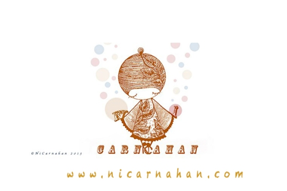 ©NiCarnahan2013 All Rights Reserved Ni Carnahan's Signature Girl Banner 2013 Mixed Media