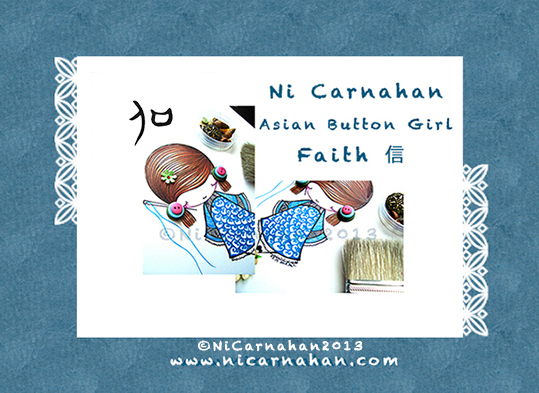 ©Ni Carnahan 2013 All Rights Reserved. Ni Carnahan's Asian Button Girls01-Faith closeup 2013