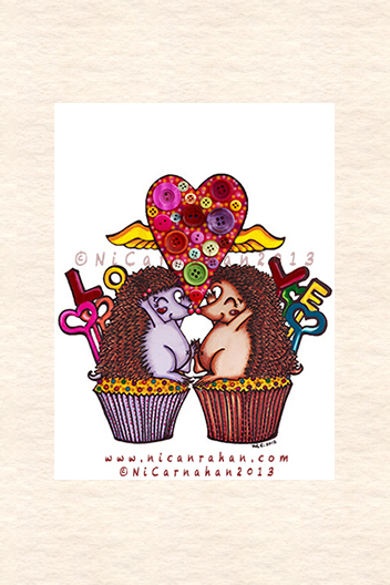 ©NiCarnahan2013 All Rights Reserved. Button Illustration- Cupcake Love 2012-2013