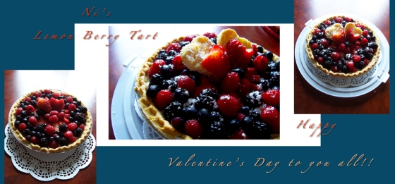 ©Ni Carnahan 2016. All Rights Reserved.版權所有© 妮·康納漢- 保留所有版權權利!! Ni's Lemon Berry Tart for Valentine's Day 02112015!