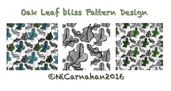 ©Ni Carnahan 2016.All Rights Reserved. Ni Carnahan VIDA fashion collection design -Oak Leaf Bliss 2016