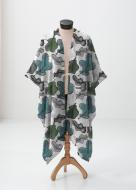 ©Ni Carnahan 2016.All Rights Reserved. Ni Carnahan VIDA fashion collection design -Oak Leaf Bliss-Sheer Warp 2016 (Photo by VIDA at shopvida.com)
