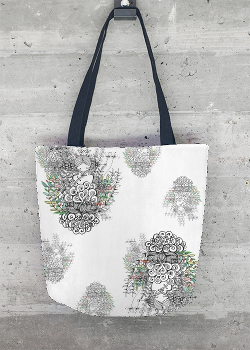 ©Ni Carnahan 2016.All Rights Reserved. VIDA new design 100% Tote Bag design 2016